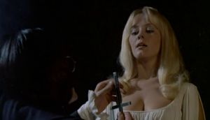 Giles Barton offers his services to Mircalla (Yutte Stensgaard) in Lust For A Vampire