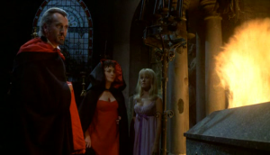 Count and Countess Karnstein and Mircalla in Lust For A Vampire (1971)