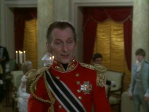 Peter Cushing as General von Spielsdorf in The Vampire Lovers (1970)