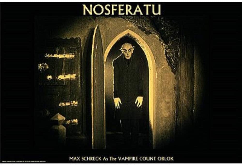 Nosferatu Movie Poster Showing Max Schreck