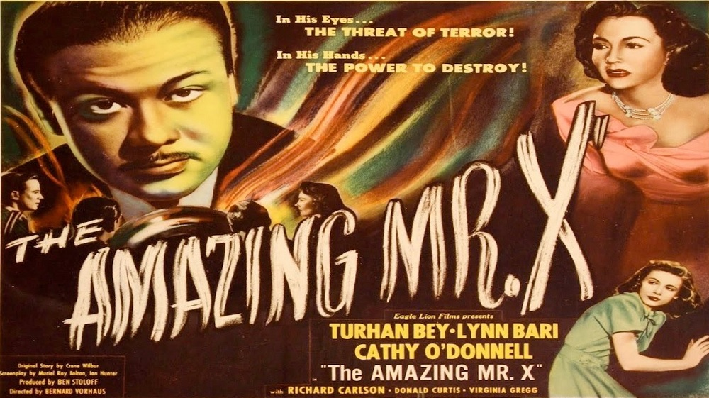 The Amazing Mr X (Movie Poster Showing Turhan Bey and Lynn Bari)
