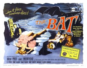The Bat (1959) Movie Poster Showing Vincent Price