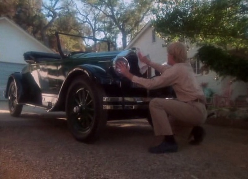 "Frank (Ed Begley Jr.) gets busy cleaning up a vintage Jordan Playboy sports car in the ""Second Chance"" segment of the 1977 horror movie anthology Dead of Night."