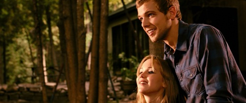 Jennifer Lawrence and Max Thieriot in a Scene from House at the End of the Street (2012)