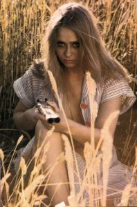 Linda Hayden in a Scene from the 70s movie House on Straw Hill