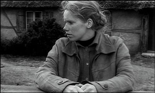 Liv Ullman in a scene from the Ingmar Bergman movie, Hour of the Wolf (Vargtimmen - Original Swedish Title)