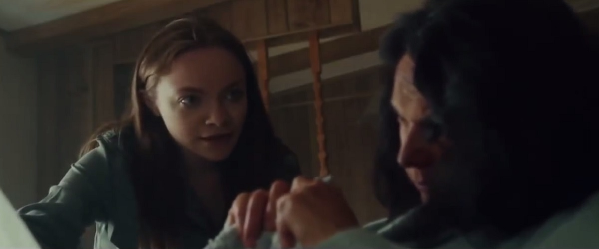 Chelsea Jurkiewicz and Brenda Daly in a Scene from the movie Abigail Haunting (2020)