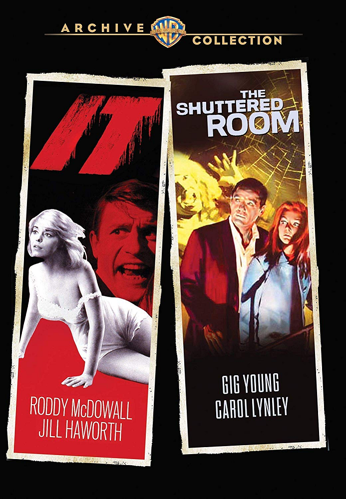 DVD Case: It!, Starring Roddy McDowall + The Shuttered Rook, Starring Oliver Reed